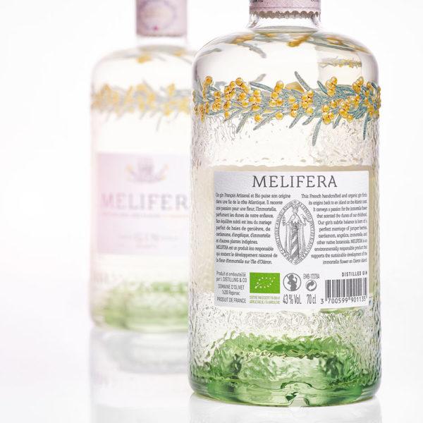 Melifera-gin-artisanal-francais-bio-dos-bouteille