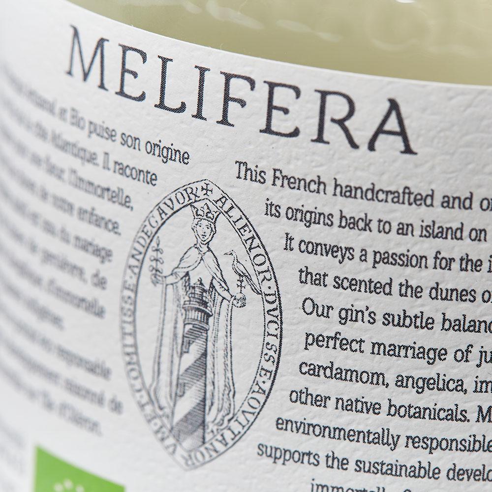 Melifera-gin-artisanal-francais-bio-etiquette